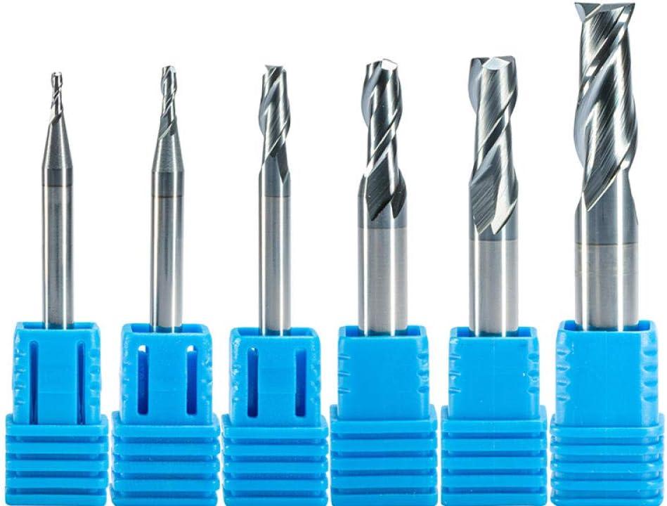 1 pc HRC55 TiAN Rev/êtu Deux Fl/ûte Fraise CNC Routeur Bit Carbure De Tungst/ène Fraise M/étal Fer Acier 1mm2mm 4mm 6mm 8mm 10mm-CED1.0xD4X50