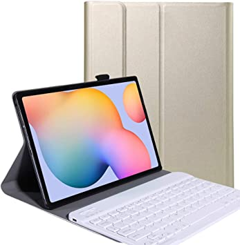 YGoal Teclado Funda para Huawei MatePad T 10, [QWERTY Inglés Layout] Slim PU Cuero Funda con Desmontable Wireless Teclado para Huawei MatePad T10 9.7, ...