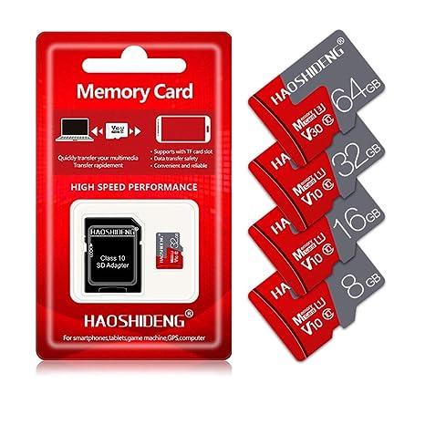 BAIYI Tarjeta de Memoria SD Tarjeta Micro SD 8GB, 16GB, 32GB, 64GB ...