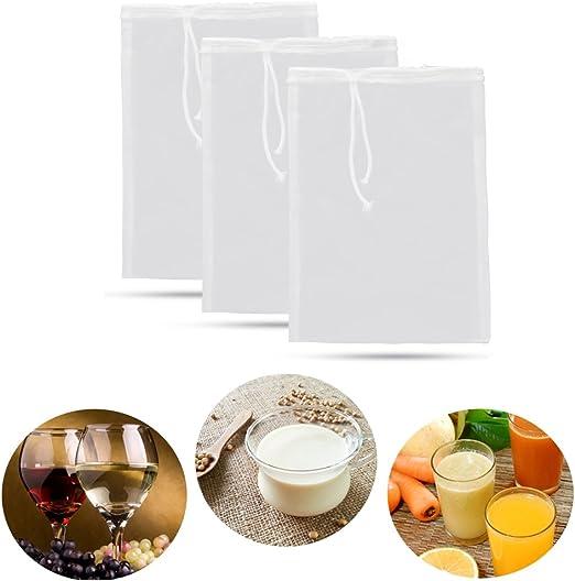 Nut Milk Juice Nylon Filter Bag
