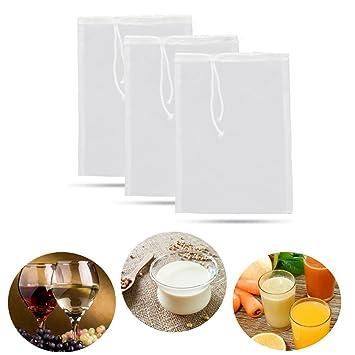 Bolsas de nailon reutilizables de malla de filtro para cejas, té, café, zumo