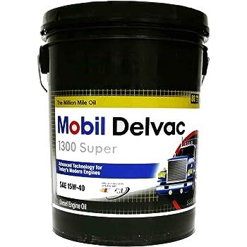 Shell Rotella T4 >> Amazon.com: Mobil 112691 15W-40 Delvac 1300 Super Motor Oil - 5 Gallon Pail: Automotive