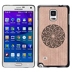 - / Pattern Floral Abstract Minimalist - - Funda Delgada Cubierta Case Cover de Madera / FOR Samsung Galaxy Note 4 SM-N910 N910 / Jordan Colourful Shop/