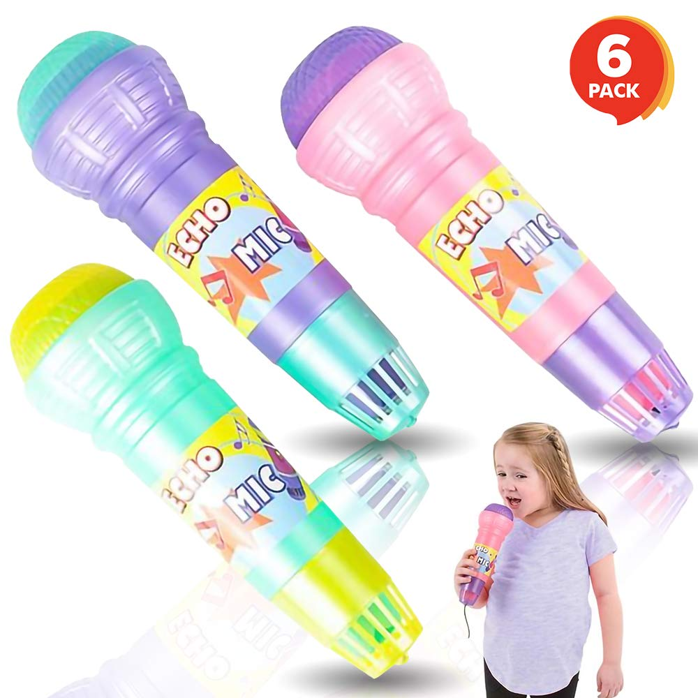 ArtCreativity Echo Microphones for Kids, Set of 6, Wireless Karaoke Mics for Children with Echo Effect, Durable and Lightweight Music Toys, Fun Supplies for Birthday, Picnic, BBQ, or Party by ArtCreativity