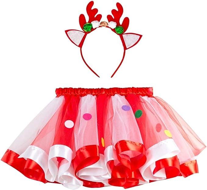 Fontee® Navidad Costumes Niñas Ropa Tutú Faldas Vestidos Falda de ...