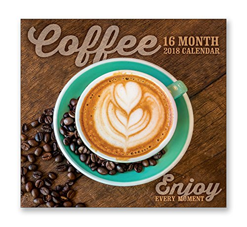 16 Month Premium Wall Calendar 2018 - Coffee - Each Month Displays Full-Color Photograph or Illustration. Printed on Linen Embossed Heavyweight Paper Stock