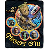 Marvel Guardians of the Galaxy GROOT Silky Soft 40'' x 50'' Throw Blanket