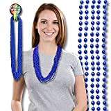 Blue Mardi Gras Beads 33