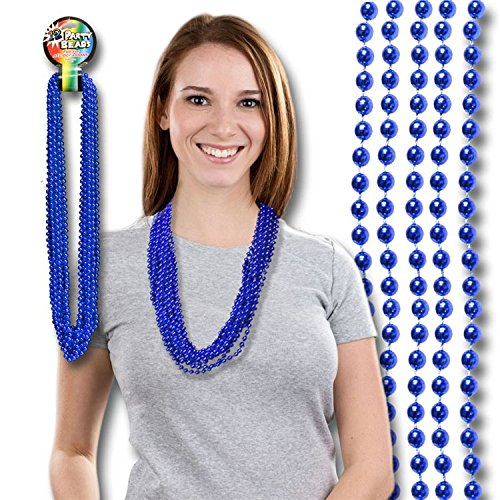 Blue Mardi Gras Beads 33