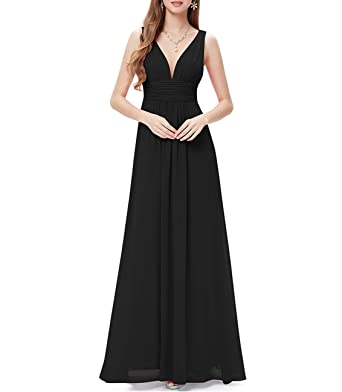 97ad925a86 Blesky Sleeveless V-Neck Semi-Formal Maxi Dress at Amazon Women's ...