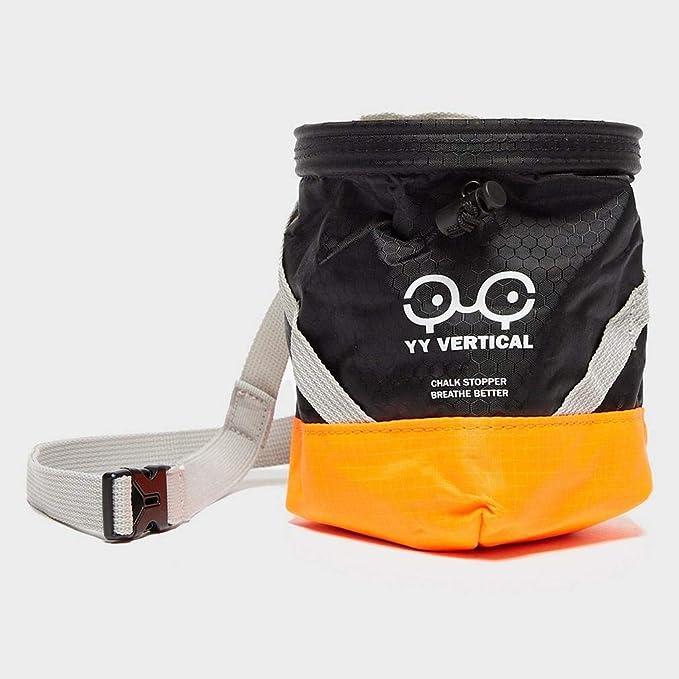 Tope de tiza vertical YY, color naranja-negro, accesorio para escalar, talla única, color negro y naranja