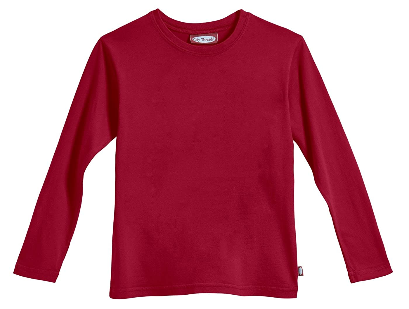 City Threads Boys' Long Sleeve Solid Tee Tshirt in 100% Soft Cotton Made in USA CT-SOLIDTEE-LSB