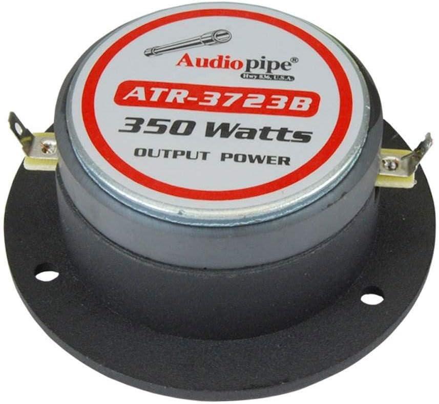 "Audiopipe ATR-3723B 3.75/"" 350W 4 Ohm Aluminum Car Audio Bullet Horn Tweeters 4"