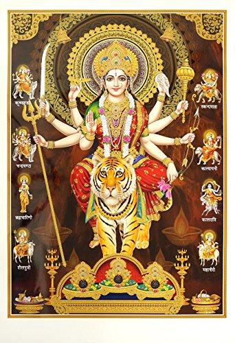 Avercart Goddess Amba / Ambaji / Ambika / Sheravali / Maa Ambe with 9