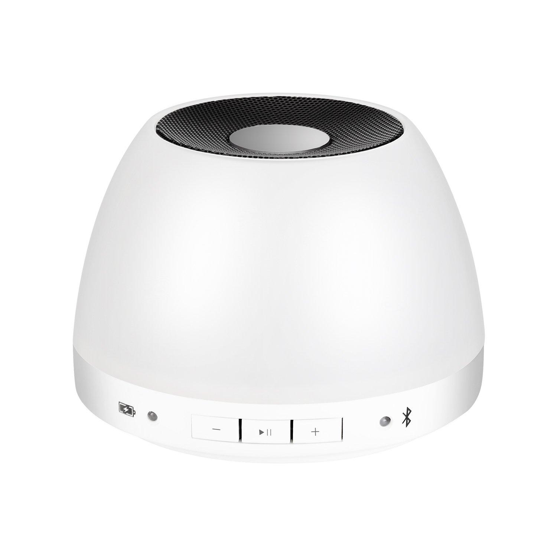 PHONECT Lamparita de noche LED con Altavoz de Bluetooth inalámbrico y con Sensor Táctil Iámpara Atmósfera [Clase de eficiencia energética A]