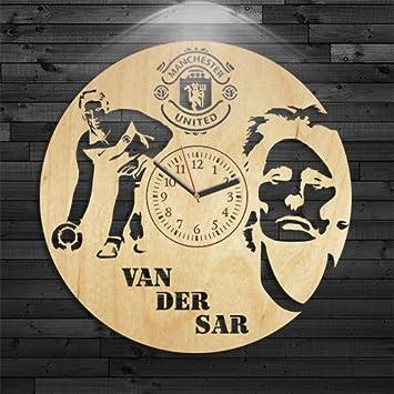 Amazon.com: Edwin Van Der Sar Wood Clock, Birthday Gift, Manchester ...