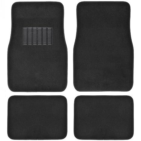 Carpet Floor Mats >> Bdk Classic Carpet Floor Mats For Car Auto Universal Fit Front Rear With Heelpad Black 45142
