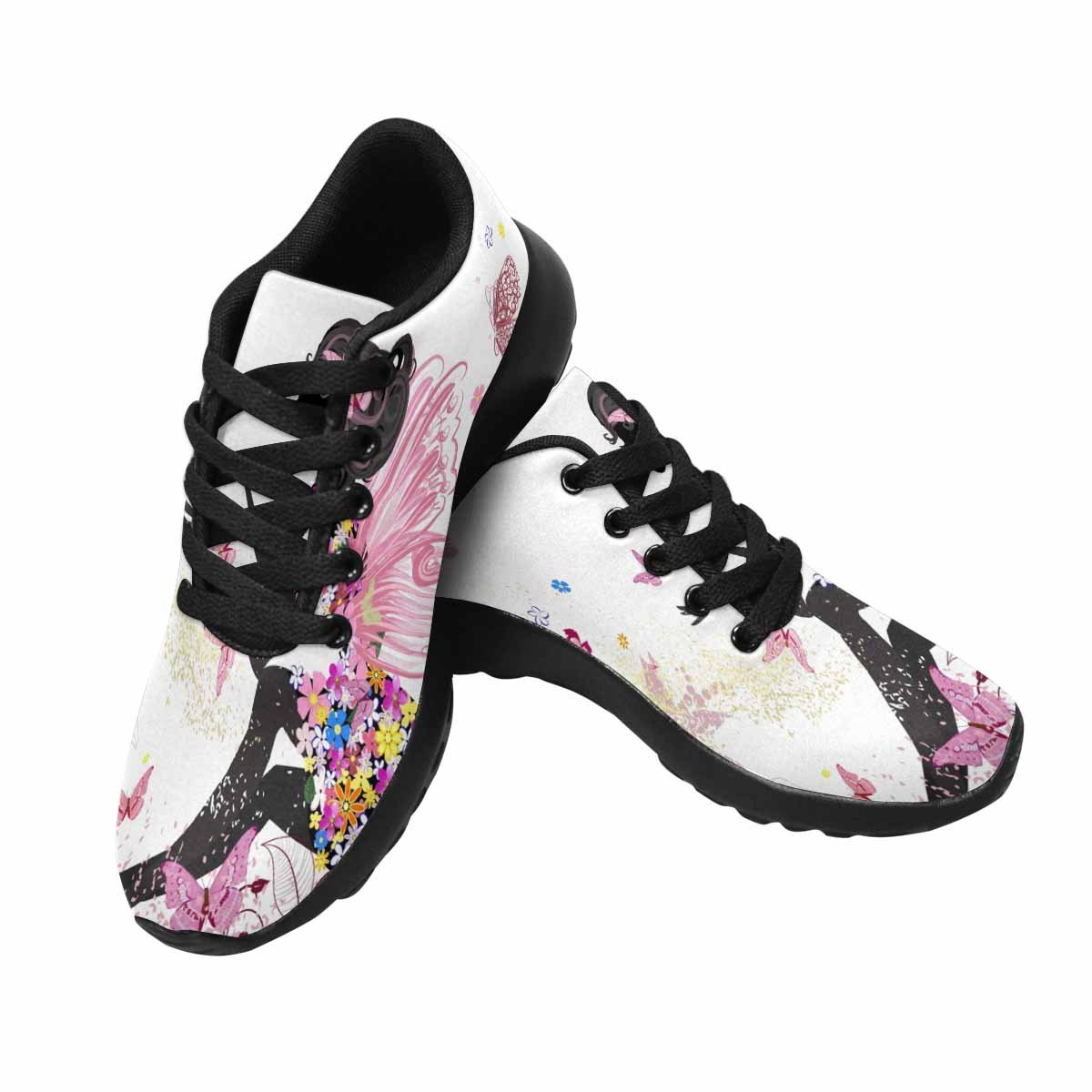 InterestPrint Women's Go Easy Walking Comfort Sports Athletic Shoes Flower Fairy 7 B(M) US