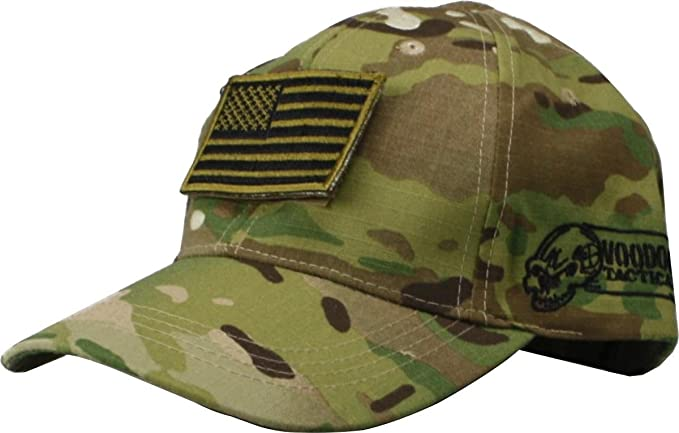 Amazon.com  VooDoo Tactical 20-9351082000 Cap With Removable Flag Patch 7cc37a0e6d05