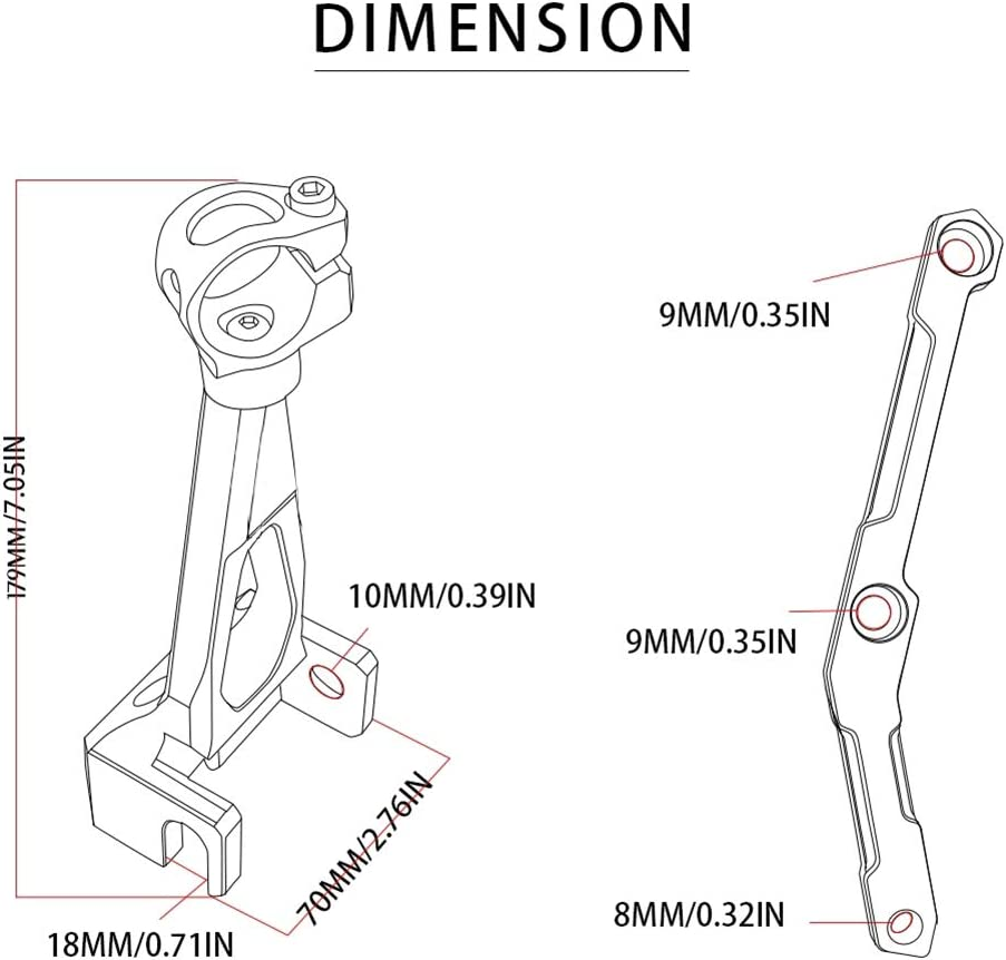 Fit for Y-AMAHA MT-09 MT09 2013-2017 2018 2019 YOUFUDE Motorcycle Steering Damper Stabilizer Mounting Bracket Motorbike Accessories with Logo MT09