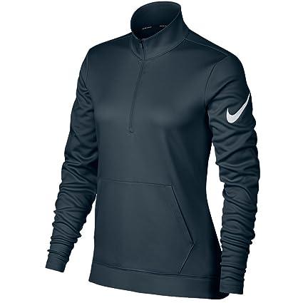 b2f0b8d247bb NIKE Therma Fit Half Zip Fleece Golf Jacket 2017 Women Armory Navy White X-