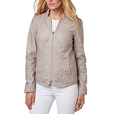 schön in der Farbe hochwertige Materialien neue niedrigere Preise Bonita Jacke Kurzjacke in Lederoptik: Amazon.de: Bekleidung