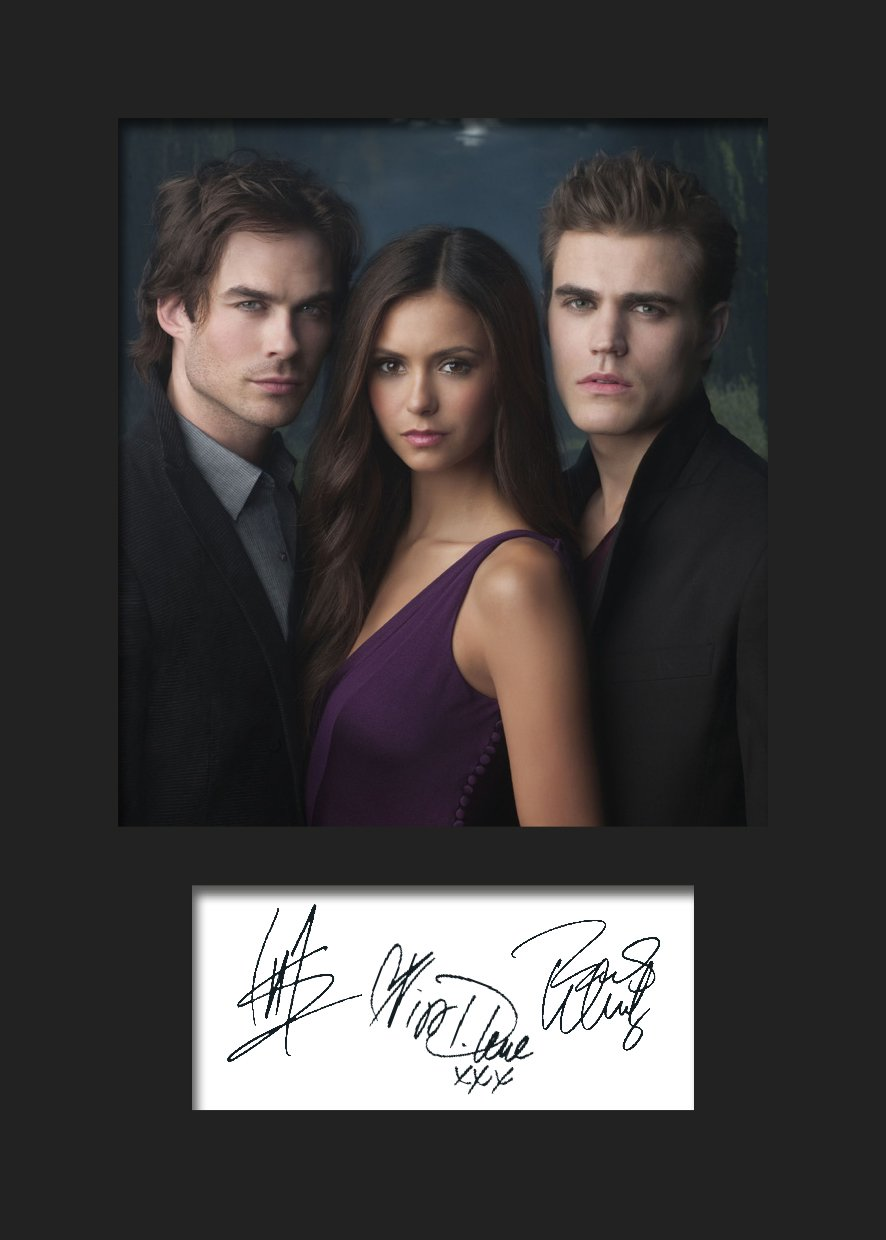 The Vampire Diaries # 1 signiert Foto A5 Print
