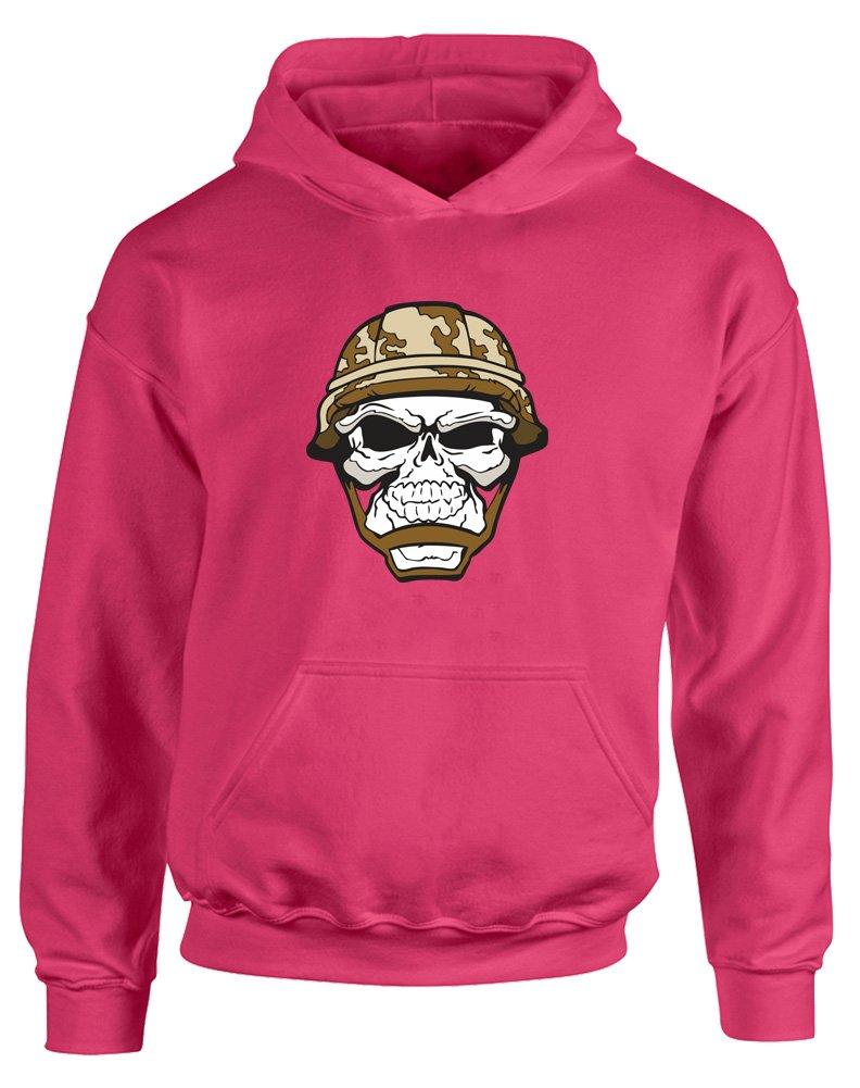 Brand88 - Skull Soldier, Kids Printed Hoodie JH01J_SD072