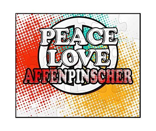(Makoroni - Peace Love Affenpinscher Dog Dogs - Jigsaw Puzzle, 30 pcs.)