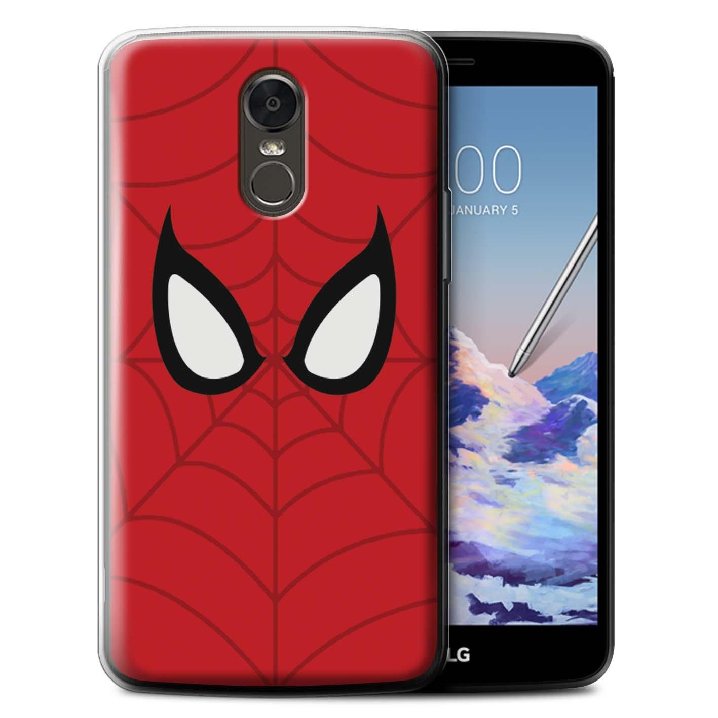 Phone Case for LG Stylus 3/Stylo 3/K10 Pro Super Hero Comic Art Spider-Man Mask Inspired Design Transparent Clear Ultra Soft Flexi Silicone Gel/TPU Bumper Cover