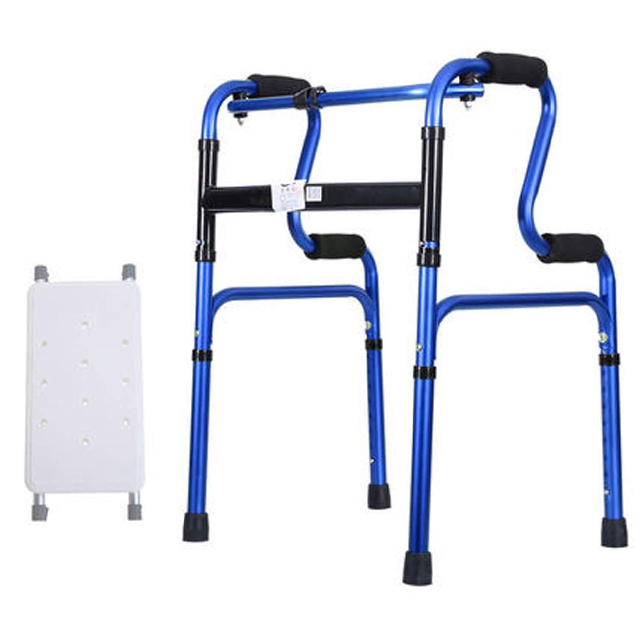 ラウンド  ウォーカー、超軽量アルミニウム合金ウォーキングウォーカー 青、シート付き歩行補助具 設計 : (色 : 青, 設計 : B) B 青 B07KS7F72X, アロマルーム:c216de31 --- a0267596.xsph.ru
