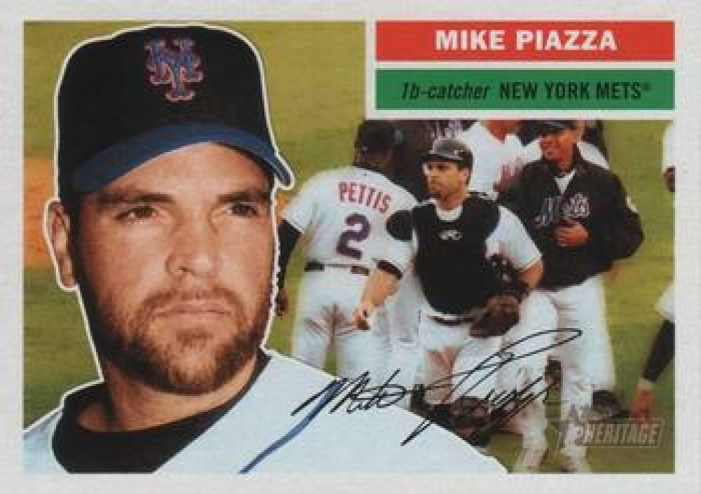 2005 Topps Heritage #350 Mike Piazza New York Mets Baseball Card