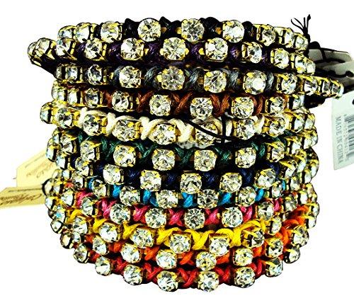 Bracelet Calypso Studios - Calypso Studios Inc. Rhinestone Bracelets Single Strand - Wholesale Lot 72 Pcs - Assorted Colors.