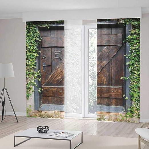 TecBillion - Cortina opaca para ventanas, decoración rústica ...