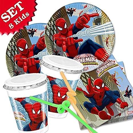 Spiderman Anniversaire De 52 Pieces Kit De Decoration Pour L