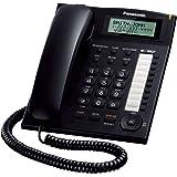 Panasonic KX-TS880EXB - Teléfono fijo (pantalla LCD, identificador de llamadas, manos libres), Color Negro