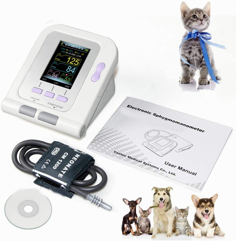 TQ Presión Arterial Digital Veterinaria Monitor de NIBP Manguito, el Perro/Gato/los Animales domésticos, Software