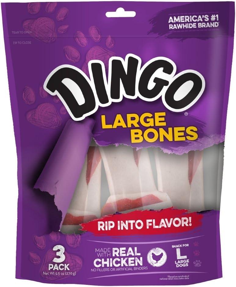 Large One Size Dingo P-95008 18 Count Rawhide Bone
