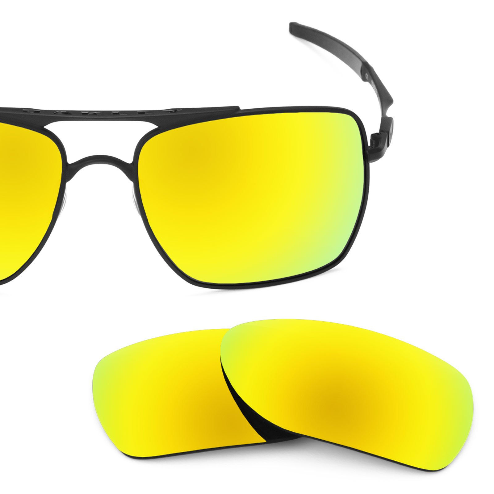 Revant Polarized Replacement Lenses for Oakley Deviation Bolt Gold MirrorShield