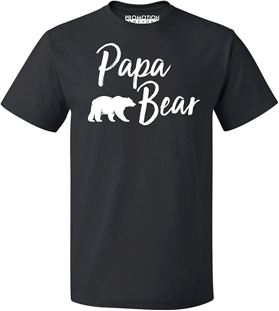Promotion Beyond Papa Bear Text Funny Gift T Shirt 2522