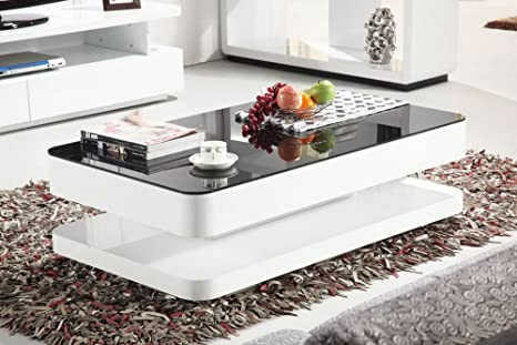 Mode Designs Courbe 1 2m High Gloss Coffee Table Black Glass