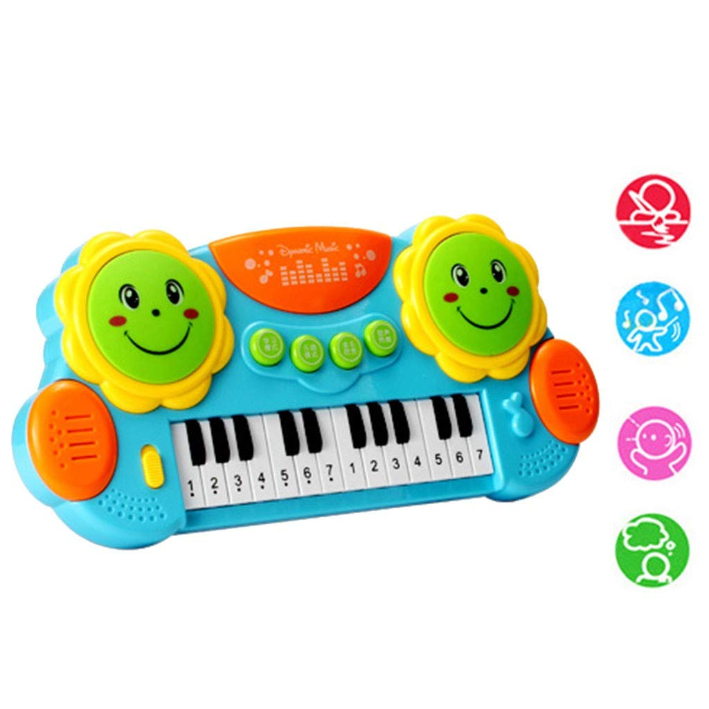 Shisay Sound and Light Music Education Keyboard 24-Key Childhood Education Multi-function Electronic Instrument Pat Drum Toy Infant Early Educational Gifts 3 year and up (24-Key Piano) by Shisay (Image #1)