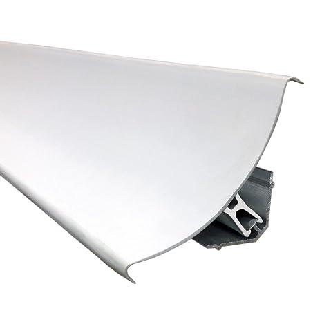 Perfil Sanitario PVC con Fijación en Aluminio - Paquete de 88 metros