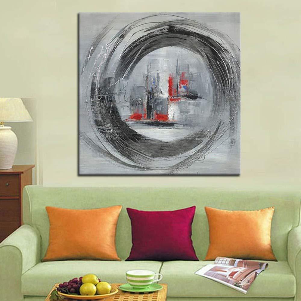 WHUI pintura Lienzo al óleo Lienzo pintura abstracto contemporáneo Arte de la pared Sala de estar hecha a mano Dormitorio Oficina en casa Apartamento Otros regalos decorativos Sin marco c1e9ee