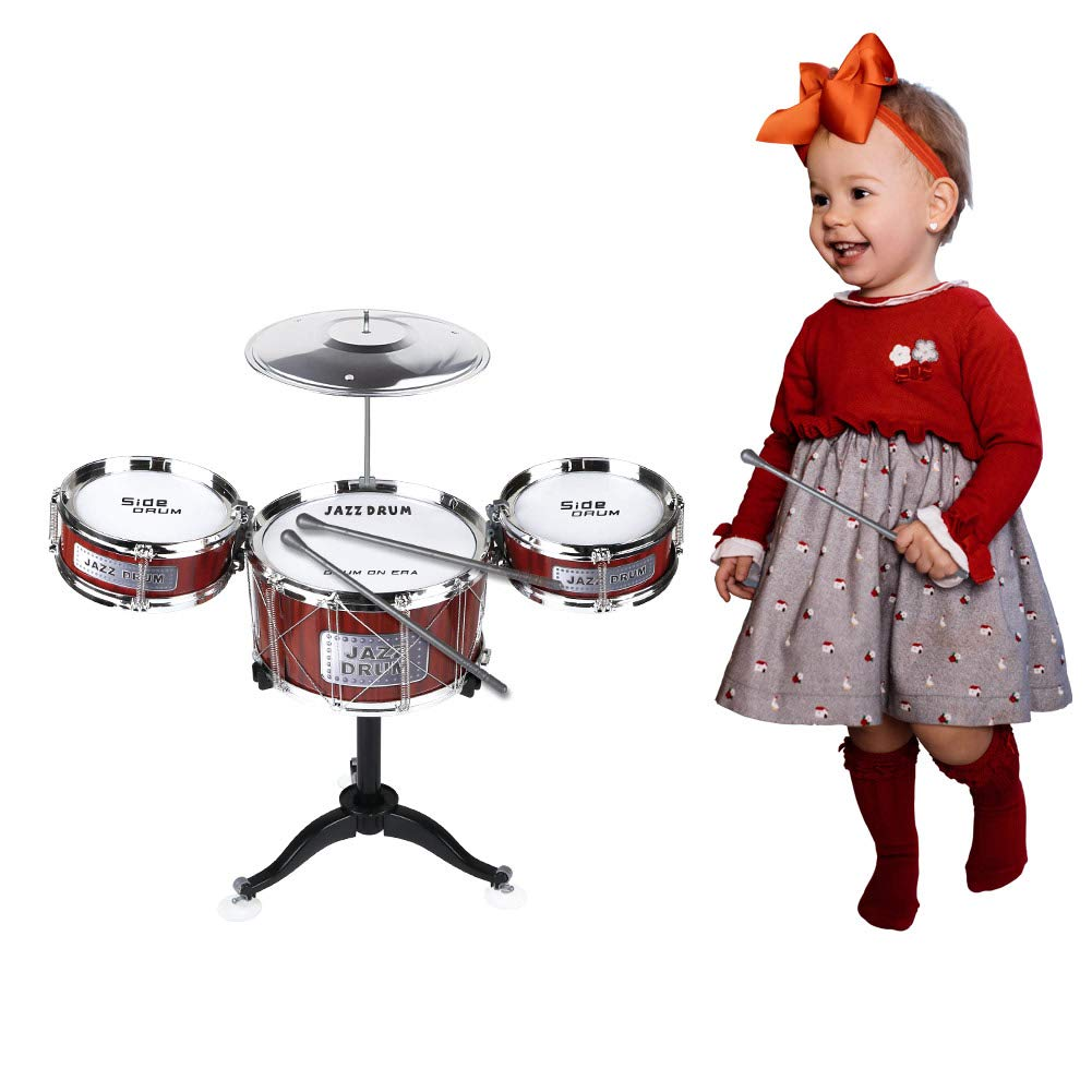 AHOMASH Small Jazz Drum Sets for Kids 3-6 Years Old Beats Musical