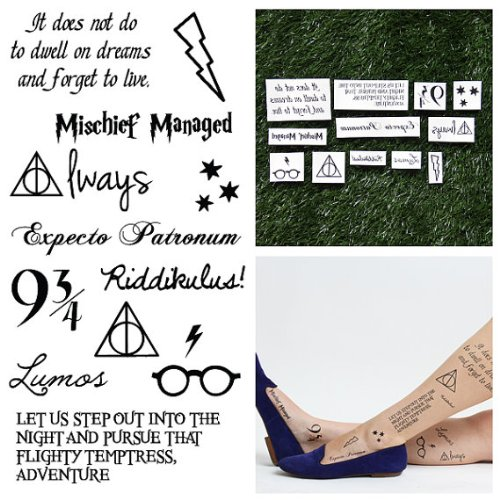 Tattify Harry Potter Temporary Tattoos, You're a Wizard, Set of 24