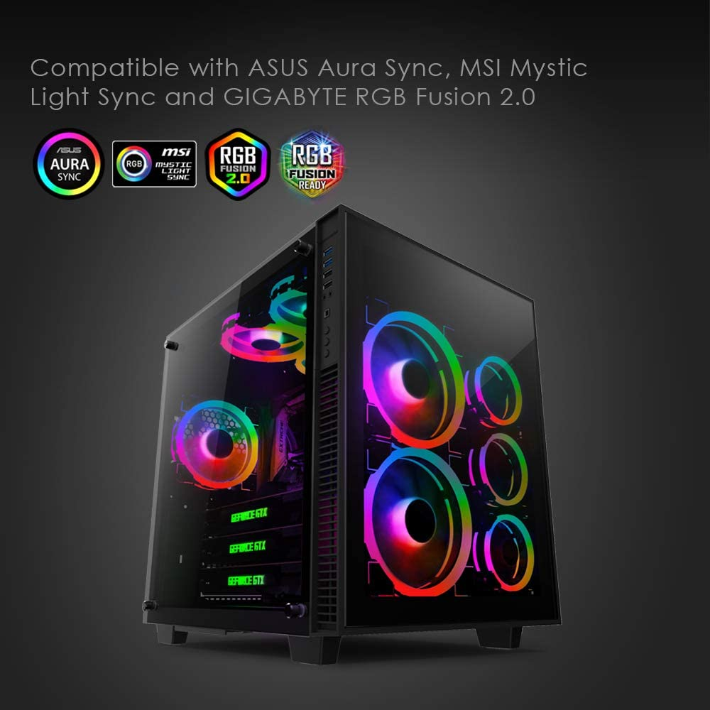Anidees Ai Aureola Duo 140 Mm Pack Of 3 Rgb Pwm Dual Computers Accessories