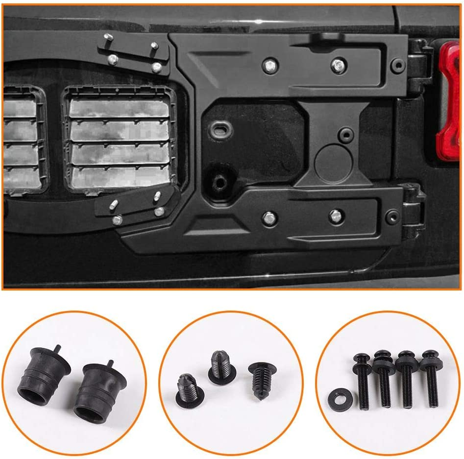 RT-TCZ for Jeep Wrangler JL Oversized Enhance Spare Tire Mounting Bracket Kit Jeep JL Accessories for 2018-2021