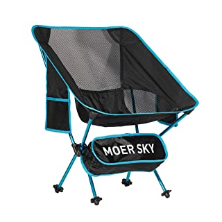 Portable Camping Chair, Lightweight Compact Folding Backpacking Chair, Heavy Duty 330lbs Capacity with Carry Bag, Breathable and Comfortable for Outdoor, BBQ, Hiking, Picnic, Fishing, Festival