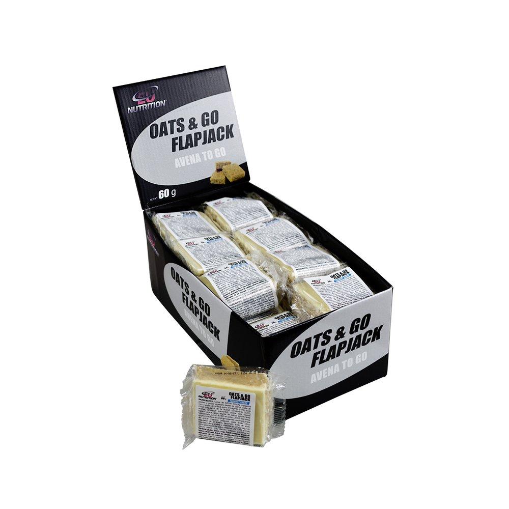 EU Nutrition Oats & Go FlapJack Yogurt - Paquete de 24 x 60 gr - Total: 1440 gr: Amazon.es: Salud y cuidado personal